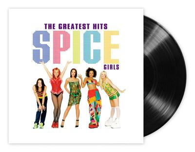 """Spice Girls """"Greatest Hits"""" expanded packshot."""