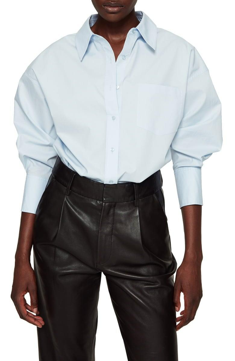 <p>This <span>ANINE BING Mika Shirt</span> ($179) means business.</p>