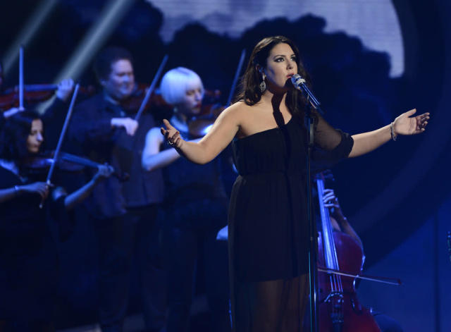 "Kree Harrison performs ""Stormy Weather"" on the Wednesday, May 1 episode of ""American Idol."""