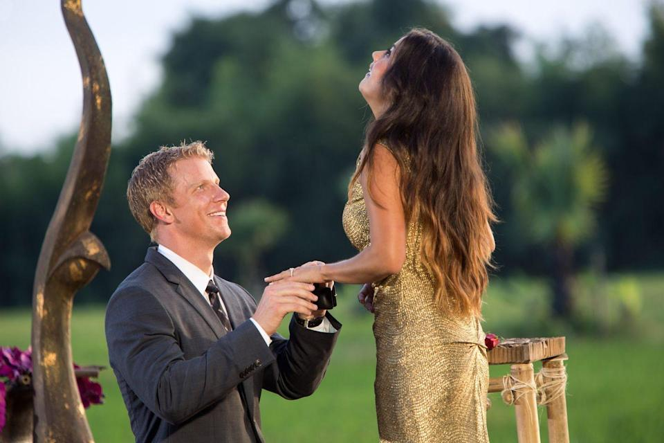 "<p>Again, that'd be up to Chris Harrison and his henchmen. Sean Lowe <a href=""https://www.bustle.com/articles/60550-15-behind-the-scenes-bachelor-secrets-from-sean-lowes-new-book-for-the-right-reasons"" rel=""nofollow noopener"" target=""_blank"" data-ylk=""slk:revealed"" class=""link rapid-noclick-resp"">revealed</a> in his memoir that for <em>his</em> proposal to Catherine Giudici, ""They planned a gorgeous setting, including a bridge and a pond they'd dug just for the occasion."" Kay fine, this rule rules.</p>"
