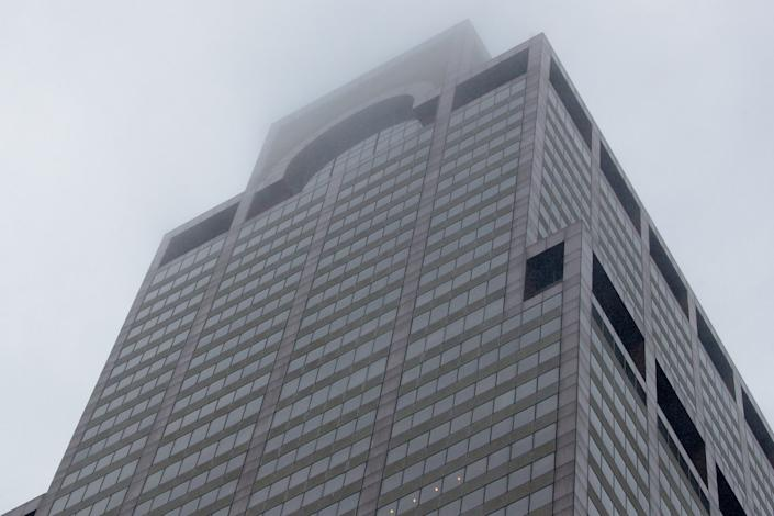 A view of 787 7th Avenue in midtown Manhattan where a helicopter was reported to have crashed in New York City, New York, June 10, 2019. (Photo: Brendan McDermid/Reuters)