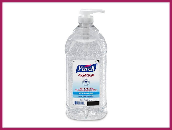 Purell Advanced Hand Sanitizer Refreshing Gel, Clean Scent, two-liter pump bottle. (Photo: Amazon)