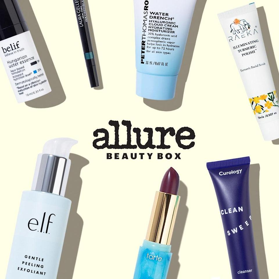 """This November, discover your new favorite products with <a href=""""https://beautybox.allure.com/?source=EDT_ALB_RetinolMyths_Slide_INCL"""" rel=""""nofollow noopener"""" target=""""_blank"""" data-ylk=""""slk:Allure's Beauty Box"""" class=""""link rapid-noclick-resp""""><em>Allure's</em> Beauty Box</a>, filled to the brim with brands beloved by our editors, including Peter Thomas Roth's hyaluronic acid-infused moisturizer and Belif Hungarian Water Essence for lasting hydration."""