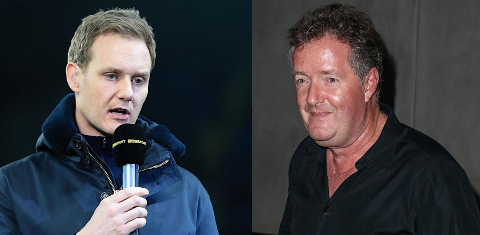 Dan Walker and Piers Morgan are long-standing rivals (Simon Stacpoole/Offside/Getty Images & Brett Cove/SOPA Images/LightRocket/Getty Images)