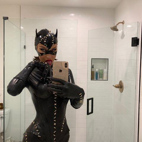 """<p>Again, when in doubt, go with the latex bodysuit if you need a costume that'll make you look and feel hot. Just don't ask me how to go to the bathroom in it.</p><p><a href=""""https://www.instagram.com/p/B4V9_GaAteu/?utm_source=ig_embed&utm_campaign=loading"""" rel=""""nofollow noopener"""" target=""""_blank"""" data-ylk=""""slk:See the original post on Instagram"""" class=""""link rapid-noclick-resp"""">See the original post on Instagram</a></p>"""