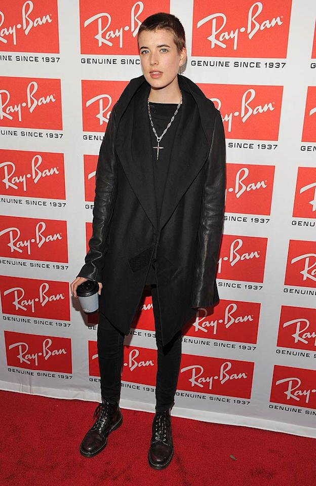 "Meanwhile, model Agyness Deyn chose a more unusual object to accent her red carpet look -- a cup of joe. Theo Wargo/<a href=""http://www.wireimage.com"" target=""new"">WireImage.com</a> - May 12, 2010"