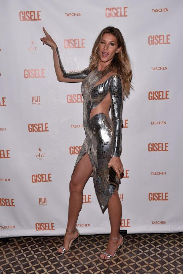"Gisele Bündchen at her ""Spring Fling"" book launch. (Photo: Getty)"