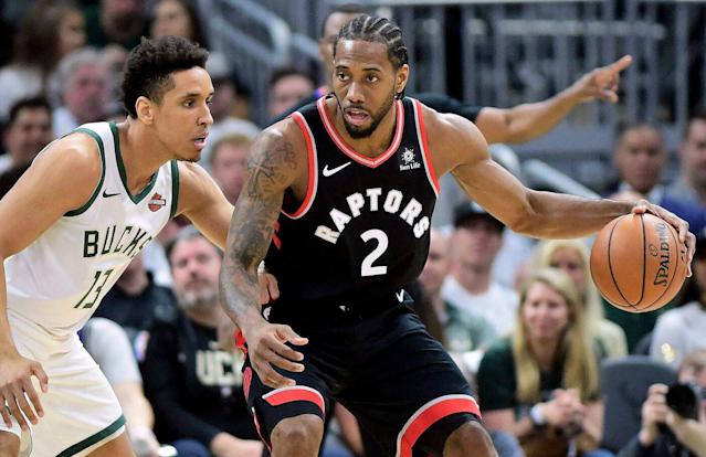Kawhi Leonard and the Toronto Raptors look to even the Eastern Conference finals against the Milwaukee Bucks. THE CANADIAN PRESS/Frank Gunn