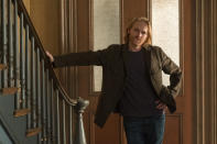 """This image released by Netflix shows Wyatt Russell in a scene from """"The Woman in the Window."""" (Melinda Sue Gordon/Netflix via AP)"""