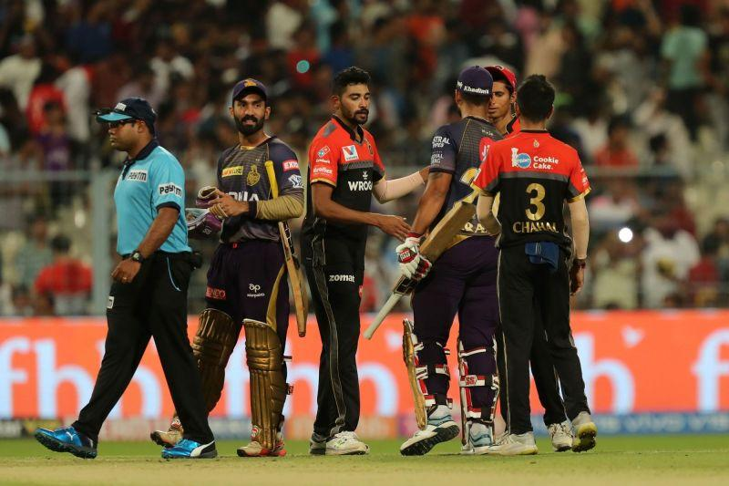 RCB and KKR - Image Courtesy (BCCI/IPLT20.com)