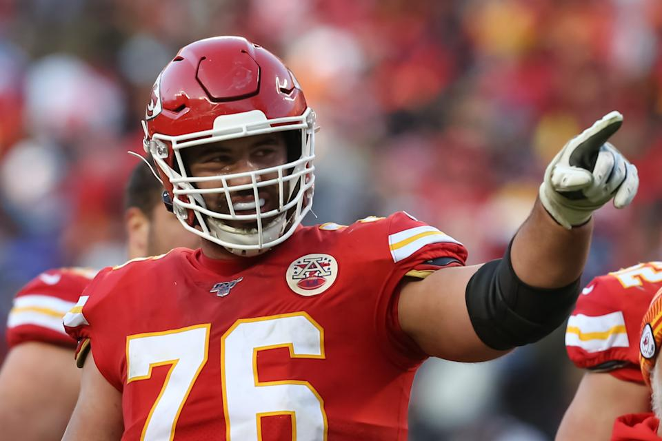 Laurent Duvernay-Tardif won a Super Bowl with the Chiefs last season. He took this year off to help fight the COVID-19 pandemic. (Photo by Scott Winters/Icon Sportswire via Getty Images)