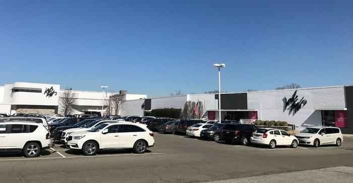 The parking lot and exterior of a Lord & Taylor store
