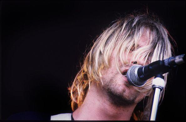 """<p>Cobain signed with music label DGC Records in 1990. His band found mainstream success with """"Smells Like Teen Spirit"""" from their second album <em>Nevermind</em> a year later.</p>"""