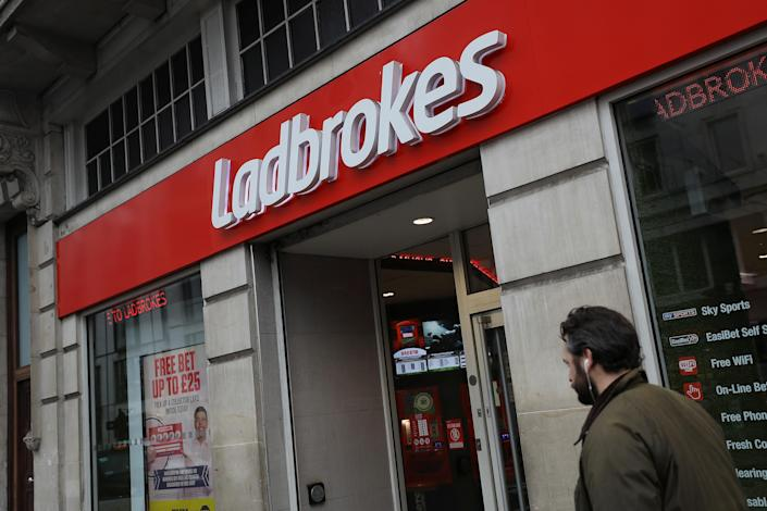 Ladbrokes owner GVC has forecasted higher annual profits following higher online gaming demand. Photo: Simon Dawson/Reuters
