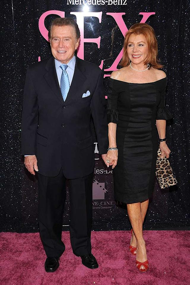 """It's hard to believe that TV personality Regis Philbin is 76 and his gorgeous wife Joy is 67! We only hope we can look as good as this classy couple one day. Dimitrios Kambouris/<a href=""""http://www.wireimage.com"""" target=""""new"""">WireImage.com</a> - May 27, 2008"""