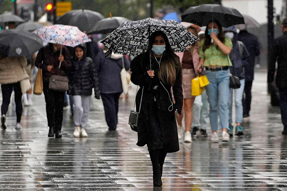 London will see more rain on Friday (AFP via Getty Images)