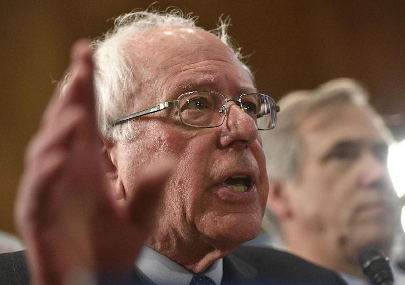 Wall Street and its big bosses are already a key part of the of the presidential campaigns of several candidates vying for the Democratic nomination, spearheaded by ultra-progressives Bernie Sanders, shown here, and Elizabeth Warren (AFP Photo/MANDEL NGAN)