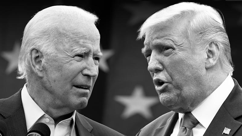 Joe Biden and Donald Trump Presidential Debate (Chip Somodevilla/Getty Images; Erin Scott/Bloomberg via Getty Images)