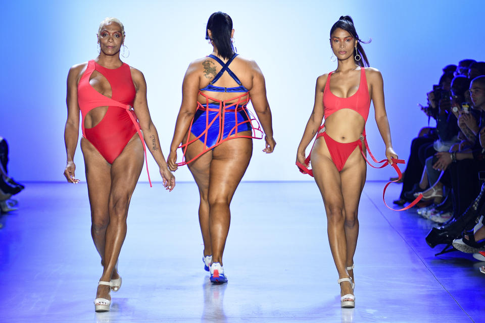 Chromat moved away from wholesale to keep prices down on its size-inclusive swimwear (pictured at the label's September 2010 fashion show). (Photo: Victor VIRGILE/Gamma-Rapho via Getty Images)