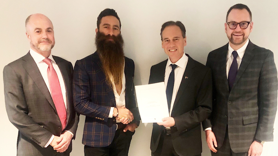 Skin Check Champions meeting with Greg Hunt MP. (Source: Skin Check Champions)