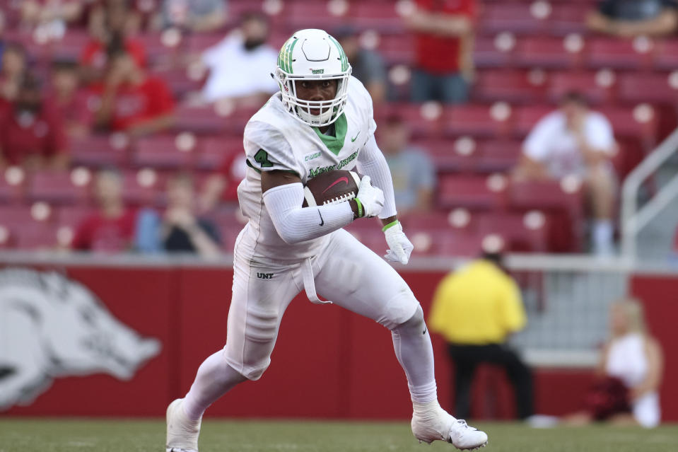 North Texas safety Khairi Muhammad is in hot water after posting a Snapchat video depicting animal cruelty. (Getty Images)
