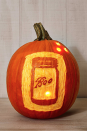 "<p>If you prefer scratching a design into your pumpkin's skin as opposed to cutting fully through it then this cute design could be for you. Why not match your pumpkin with your house's rustic farmhouse chic vibes by making a Mason jar, perfectly etched with the word ""Boo."" </p>"