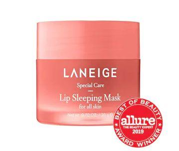 """Get this <a href=""""https://fave.co/37LKx17"""" target=""""_blank"""" rel=""""noopener noreferrer"""">LANEIGE Lip Sleeping Mask on sale</a>(normally $22) during Sephora's Holiday Savings Eventwith code<strong>HOLIDAYFUN</strong>at checkout."""