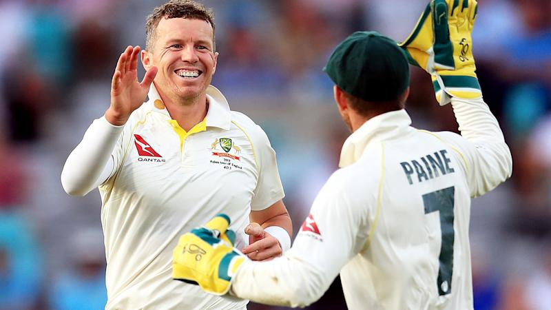 Peter Siddle, pictured here celebrating a wicket during the Ashes series in England.