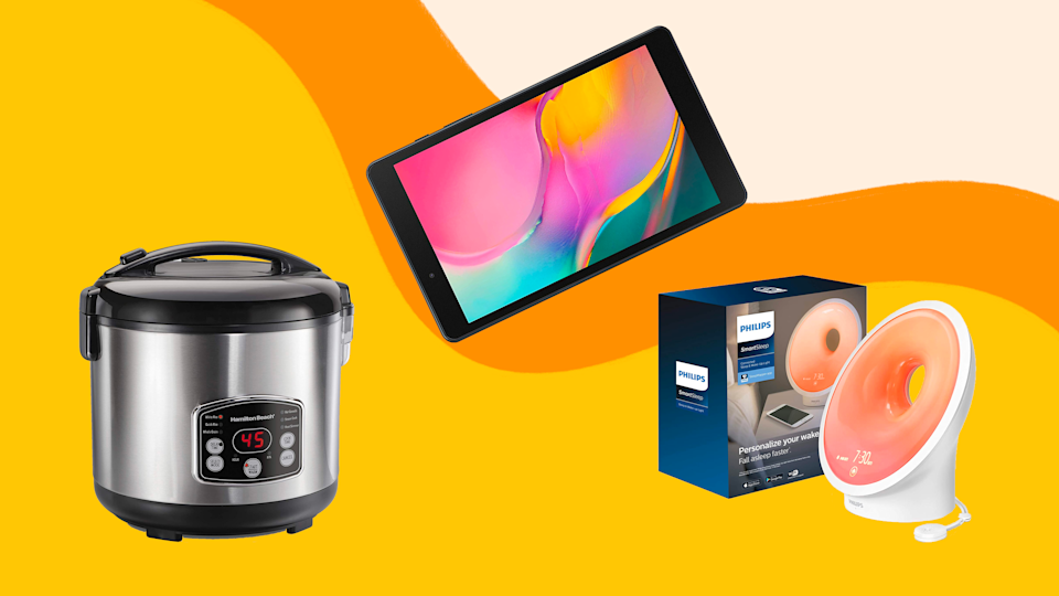 Shop Amazon markdowns on a rice cooker, android tablet, sunrise alarm clock and more this weekend.