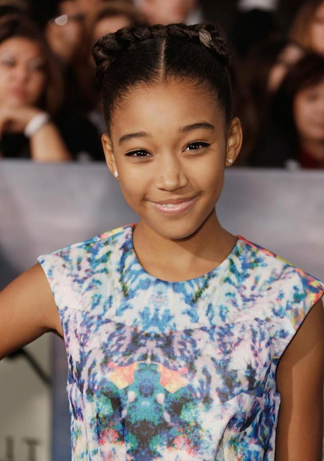 <p>Amandla Stenberg arrives at <em>The Twilight Saga: Breaking Dawn – Part 2</em> Los Angeles premiere at Nokia Theatre L.A. Live on Nov. 12, 2012. (Photo: Jeff Vespa/WireImage) </p>