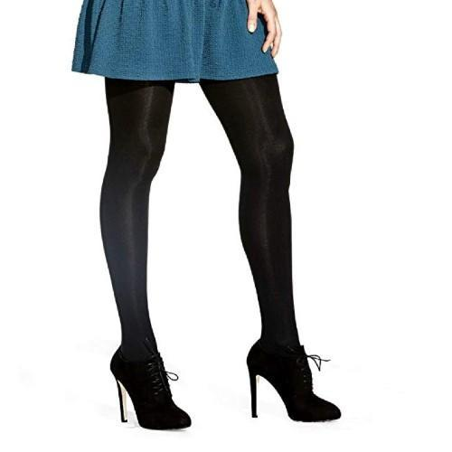 "When you wear tights with a sweater dress, be sure the tights are ""slippery,"" so the dress can move freely. (Photo: Amazon)"