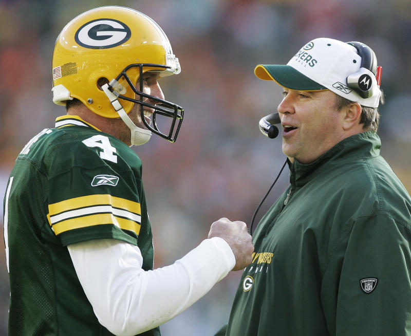 Brett Favre appears to have fonder memories of Mike McCarthy than Aaron Rodgers does. (AP Photo/Morry Gash, File)