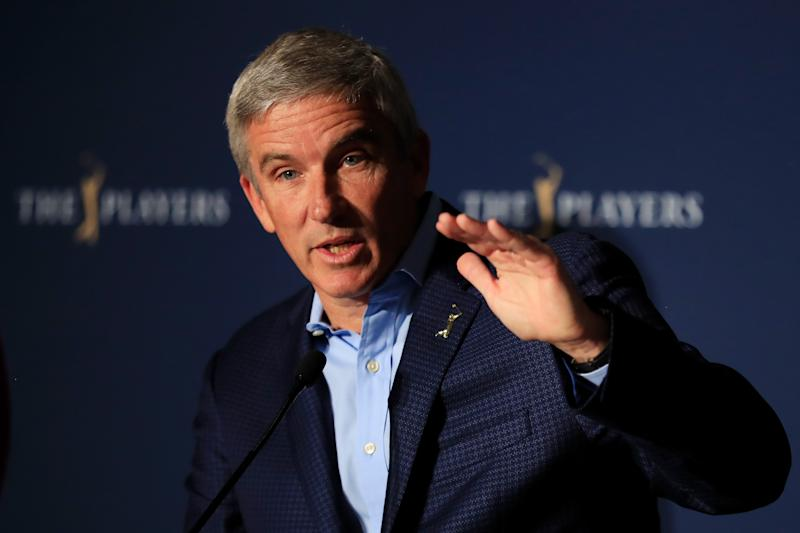 With no golf being played due to the coronavirus, PGA Tour commissioner Jay Monahan won't be taking his salary.