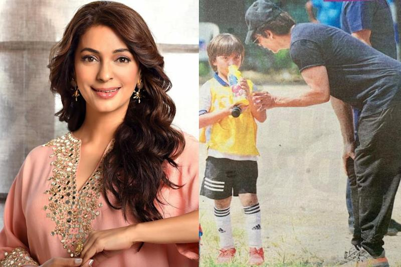 Juhi Chawla 'was Ready to Pull Shah Rukh's Ears' for Using Plastic Bottle, Then Realised It's a Steel Sipper
