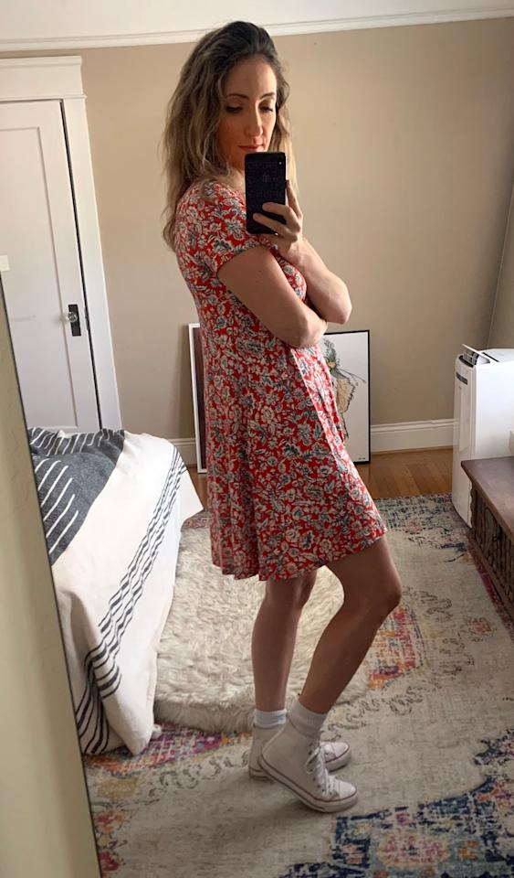 """<p><a href=""""https://www.popsugar.com/buy/Jersey-Swing-Dress-585613?p_name=Jersey%20Swing%20Dress&retailer=oldnavy.gap.com&pid=585613&price=25&evar1=fab%3Aus&evar9=47582000&evar98=https%3A%2F%2Fwww.popsugar.com%2Fphoto-gallery%2F47582000%2Fimage%2F47582368%2FJersey-Swing-Dress-25I-loved-how-much-movement-dress-gave&list1=shopping%2Cold%20navy%2Cdresses%2Ceditors%20pick%2Cproduct%20reviews&prop13=api&pdata=1"""" rel=""""nofollow"""" data-shoppable-link=""""1"""" target=""""_blank"""" class=""""ga-track"""" data-ga-category=""""Related"""" data-ga-label=""""https://oldnavy.gap.com/browse/product.do?pid=551793#pdp-page-content"""" data-ga-action=""""In-Line Links"""">Jersey Swing Dress </a> ($25)</p> <p>I loved how much movement the dress gave me in the skirt.</p>"""