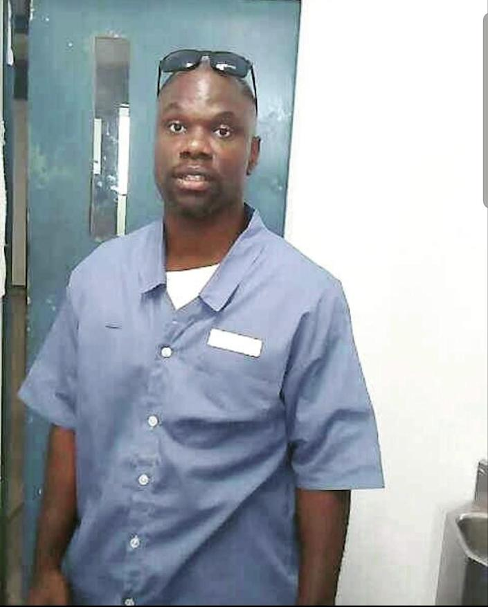 Ian Manuel at Dade Correctional Institution in 2016, a few months before his release. Age 39.