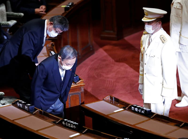 Two-thirds of Japan public support new PM Suga, polls show