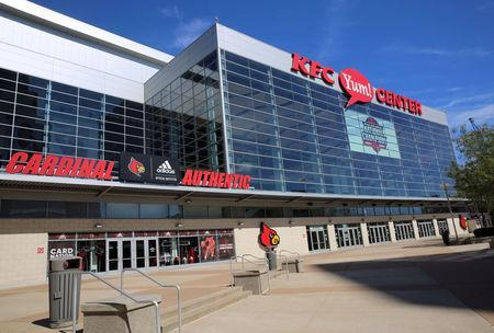 The KFC Yum! Center where the University of Louisville men's basketball team plays, is pictured in Louisville, Kentucky, U.S., September 28, 2017. REUTERS/Chris Kenning