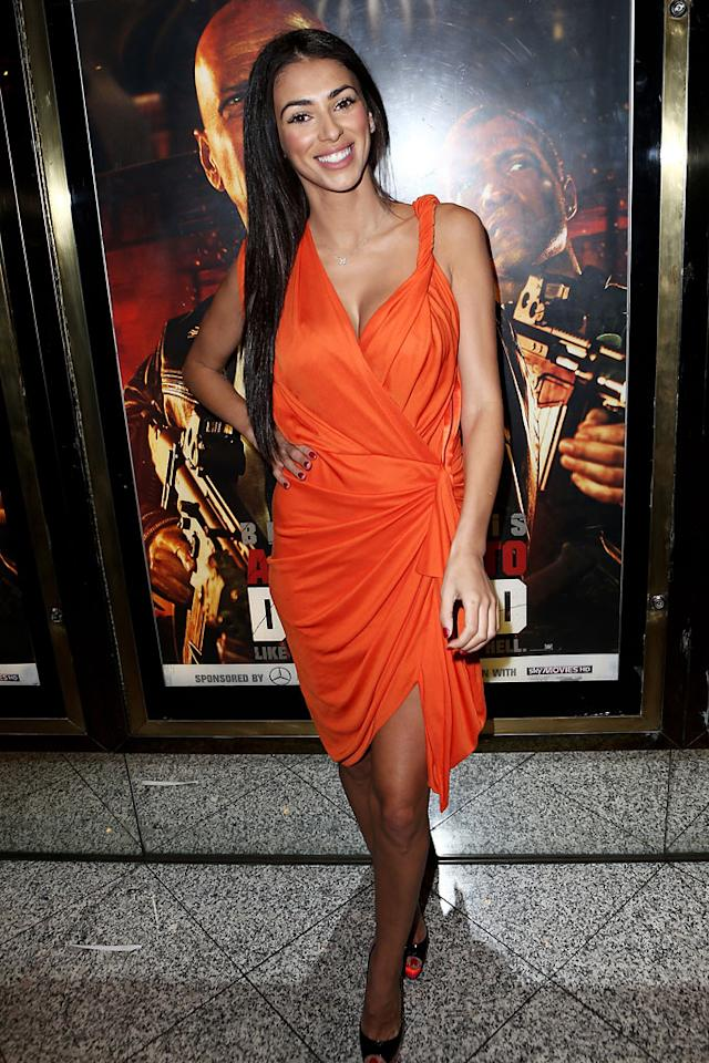 Georgia Salpa attends the UK Premiere of 'A Good Day To Die Hard' at Empire Leicester Square on February 7, 2013 in London, England.  (Photo by Dave M. Benett/WireImage)
