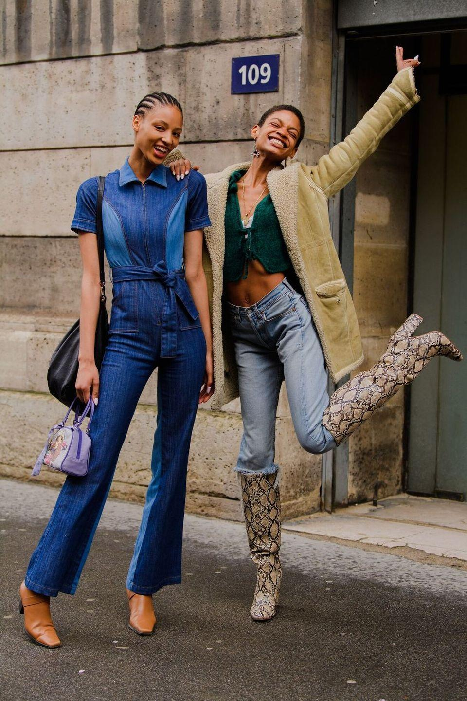 <p>All things snake-print continue to reign supreme. </p>