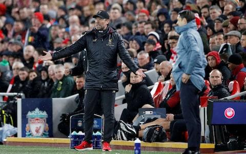 Liverpool manager Juergen Klopp reacts during the match - Credit: REUTERS