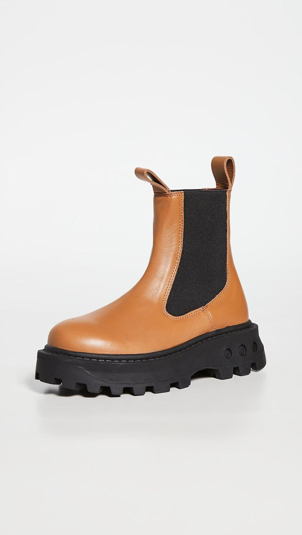 <p>These <span>Simon Miller F147 Scrambler Boots</span> ($540) are a great alternative to basic black. They still look good with pretty much any outfit, and we love the chunky sole.</p>