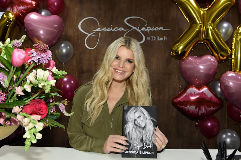 "FRANKLIN, TENNESSEE - FEBRUARY 14: Jessica Simpson celebrates #1 New York Times best-selling memoir, ""Open Book"" at Dillard's CoolSprings on February 14, 2020 in Franklin, Tennessee. (Photo by John Shearer/Getty Images for Jessica Simpson Collection)"