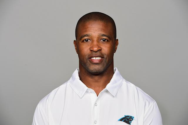 Defensive backs coach Curtis Fuller resigned from the Carolina Panthers this week after an investigation found he'd behaved inappropriately toward women in the workplace. (AP)