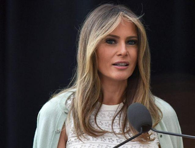 Melania Trump was honored at the annual First Lady's Luncheon in Washington. (Photo: Getty Images)