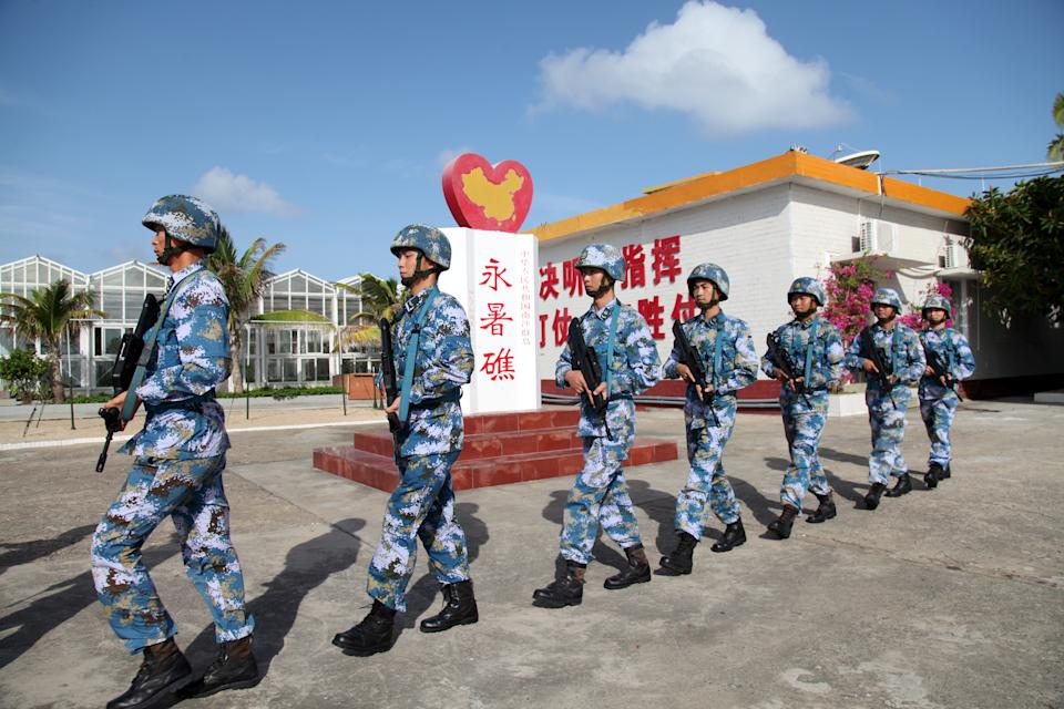 Soldiers of China's People's Liberation Army