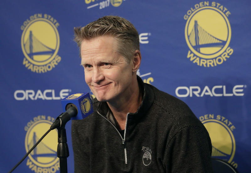 Steve Kerr makes 'really arrogant' joke about Warriors and Patriots