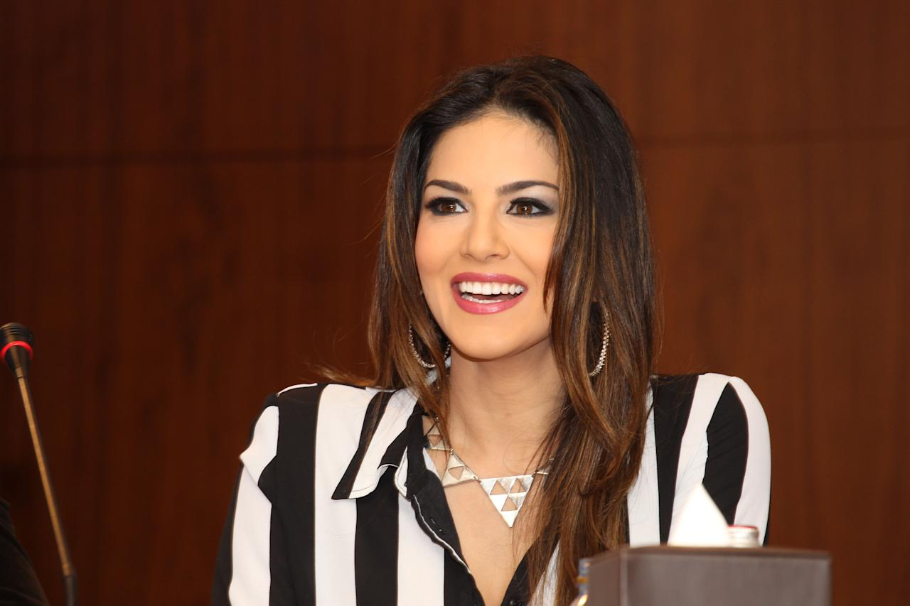 Sunny Leone has a laugh as she continues to talk about the film. Sanish Cherian/Yahoo! Maktoob