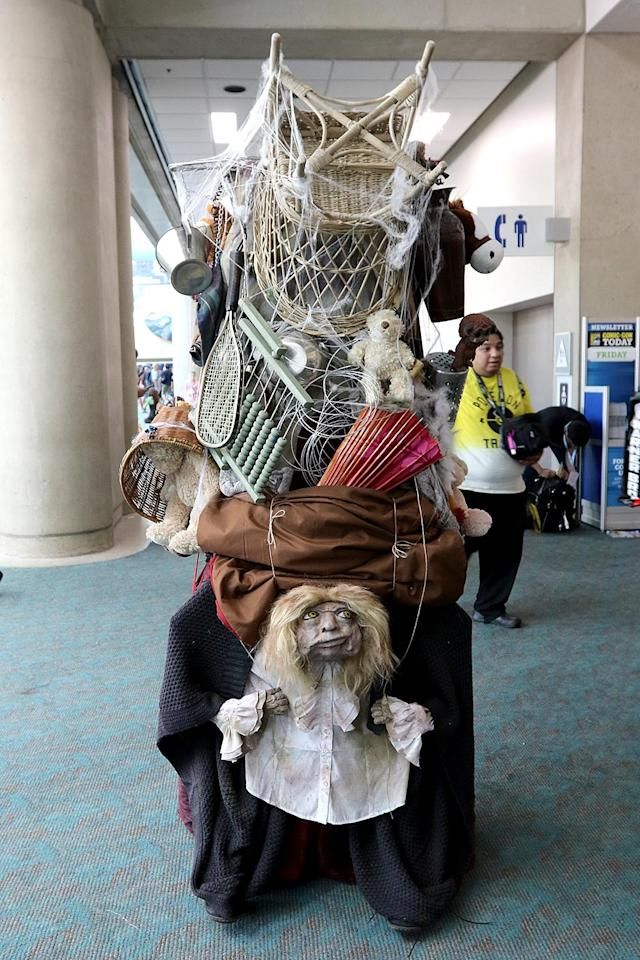 <p>Cosplayer dressed as the Junk Lady from <em>Labyrinth</em> at Comic-Con International on July 20 in San Diego. (Photo: Angela Kim/Yahoo Entertainment) </p>