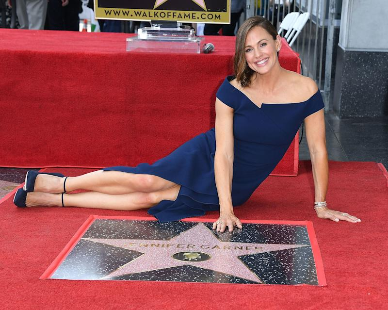 HOLLYWOOD, CA - AUGUST 20: Jennifer Garner Honored With Star On The Hollywood Walk Of Fame on August 20, 2018 in Hollywood, California. (Photo by Steve Granitz/WireImage)